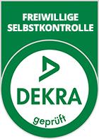 Siegel zur freiwilligen Selbstkontrolle der DEKRA als Qualitätsmerkmal, verantwortlich für wirtschaftlichen Erfolg, hochwertige Besserheizer Holzpellets und grüne Fonds für eine sicheres und nachhaltiges Investment