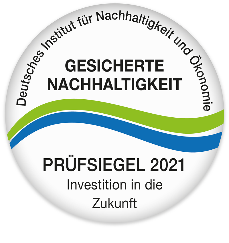 Prüfsiegel für gesicherte Nachhaltigkeit 2021 Prinz Eugen Energiepark